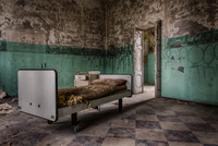 Abandoned room in hospital, Mombello Asylum, Limbiate, Lombardy, Italy