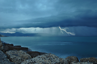 Thunderstorm above sea, Heraklion, Crete, Greece