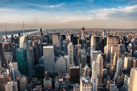 Aerial view of city, New York City, New York State, USA
