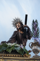 Statue of Jesus Christ carrying cross at religious procession, Braga, Portugal