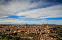 Landscape with old town, Toledo, Spain