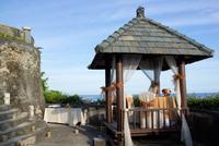 Gazebo at luxury resort, Uluwatu, Bali, Indonesia