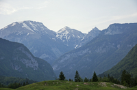 Landscape with mountain range, Bohinj, Upper Carniola, Slovenia