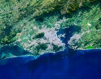 Satellite view of Rio de Janeiro, Brazil 11098042149  写真素材・ストックフォト・画像・イラスト素材 アマナイメージズ