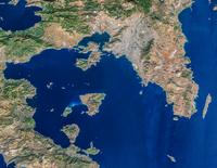 Satellite view of Athens, Greece