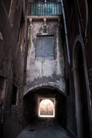 Archway in old town, Venice, Italy