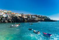 Fishing village on rocky coast, Madeira, Portugal