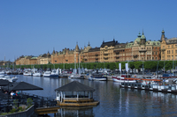 Marina with moored boats, Stockholm, Sweden