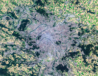 Satellite image of Paris, France