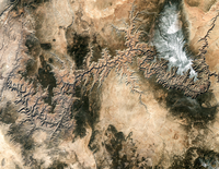Satellite image of Grand Canyon, Arizona, USA