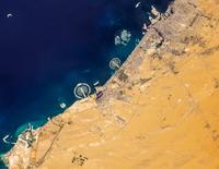 Satellite image of Dubai, United Arab Emirates 11098042304| 写真素材・ストックフォト・画像・イラスト素材|アマナイメージズ