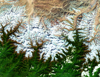 Mount Everest Satellite Image, Himalaya Mountains, Tibet, China
