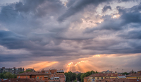 Stormy cloudscape over Bologna, Italy