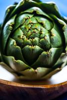 Close-up of green artichoke, Miami, Florida, USA