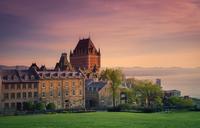 Ch?teau Frontenac at dusk, Quebec City, Quebec, Canada