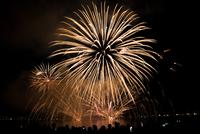 Fireworks at night, Thailand