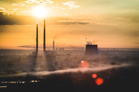 Industrial Morning, Cracow, Poland