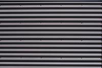 Corrugated aluminum texture, Birmingham, Alabama, USA