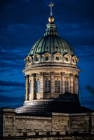 Kazan Cathedral at night, Saint Petersburg, Russia