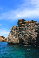 Cliff by water, Comino, Malta