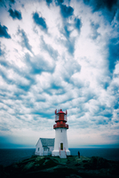 Sky over lighthouse, Landesnes, Norway