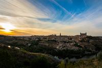 Historic city at sunset, Toledo, Castilla-La Mancha, Spain