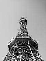 Observation tower against sky, Petrin, Prague, Czech Republic