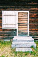 Close-up of wooden house, Bonnstan, Skelleftea, Sweden