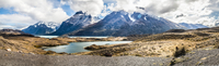 Scenic view of mountains, Torres del Paine National Park, Magallanes Region, Patagonia, Chile
