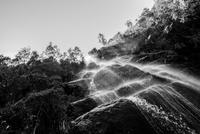 Waterfall in black and white, Penedo, Brazil