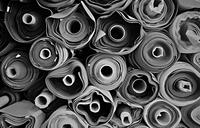 Rolls of fabric, Tokyo, Japan