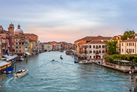 Grand Canal and cityscape, Venice, Italy