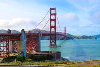 Clouds over Golden Gate Bridge, San Francisco, California, USA