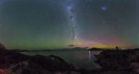 Aurora Borealis and Galaxy, Tasmania, Australia
