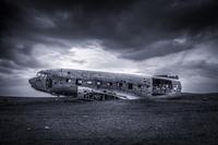 Crushed plane, Vik, Iceland