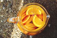 Orange juice in jug