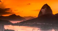 Sunrise in city, Rio de Janeiro, Brazil