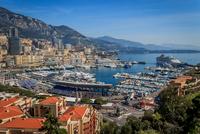 Panorama of port, Port Hercules, Monaco