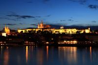 Skyline of Prague in evening, Prague, Czech Republic