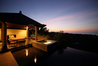 Sunset over luxury resort, Ungasan, Indonesia