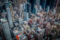 Aerial view of Manhattan, Manhattan, New York City, New York, USA