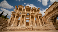 Clouds over Library of Celsus, Ephesus, Anatolia, Turkey