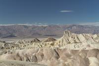 Desolate desert mountain landscape of Death Valley seen from Zabriskie Point, California, USA