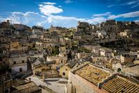 Elevated view of Matera, Matera, Basilicata, Italy