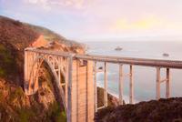 View of Bixby Creek Bridge, California, USA