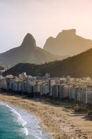 View of beachfront, Copacabana, Rio de Janeiro, Brazil