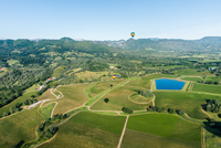 Panorama of valley, Napa Valley, California, USA