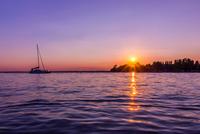 Sunset over Balaton Lake, Hungary