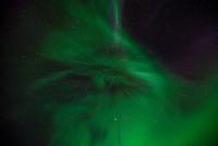 Green aurora on sky, Alberta, Canada