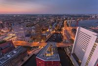 Cityscape, Rotterdamat sunset, Rotterdam, Holland